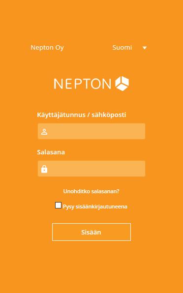 Nepton Kirjautuminen